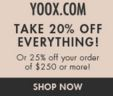 The Yoox online store is full of the latest fashion trends for women, men and children alike. All of the items that you see at Yoox online can even be delivered straight to your door within 48 hours and you can choose among many secure payment options to complete your purchase.5/5(1).
